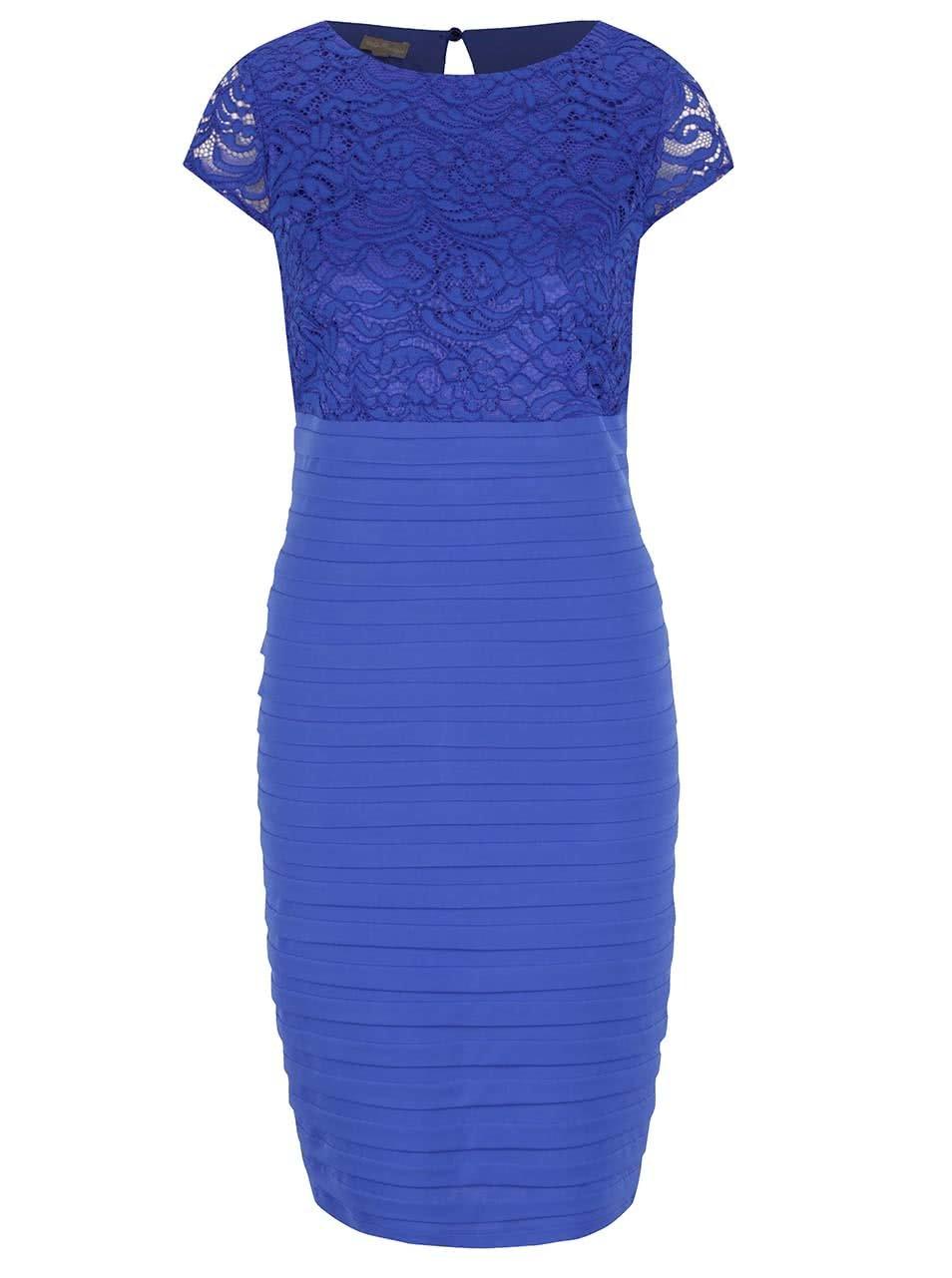69aa2f30729e Modré čipkované šaty M Co ...