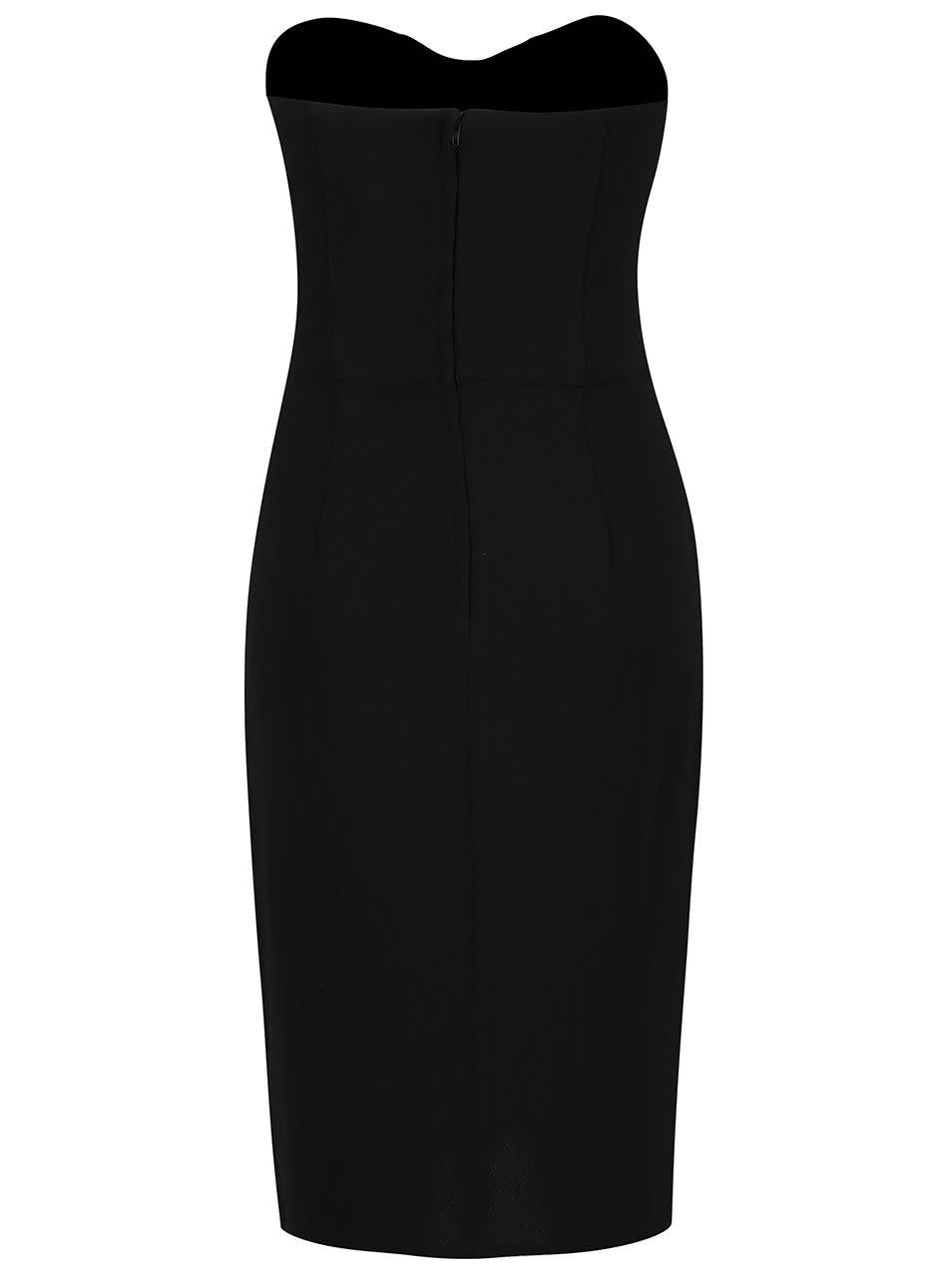 b93fddd84d1 Černé pouzdrové šaty bez rukávů Miss Selfridge ...