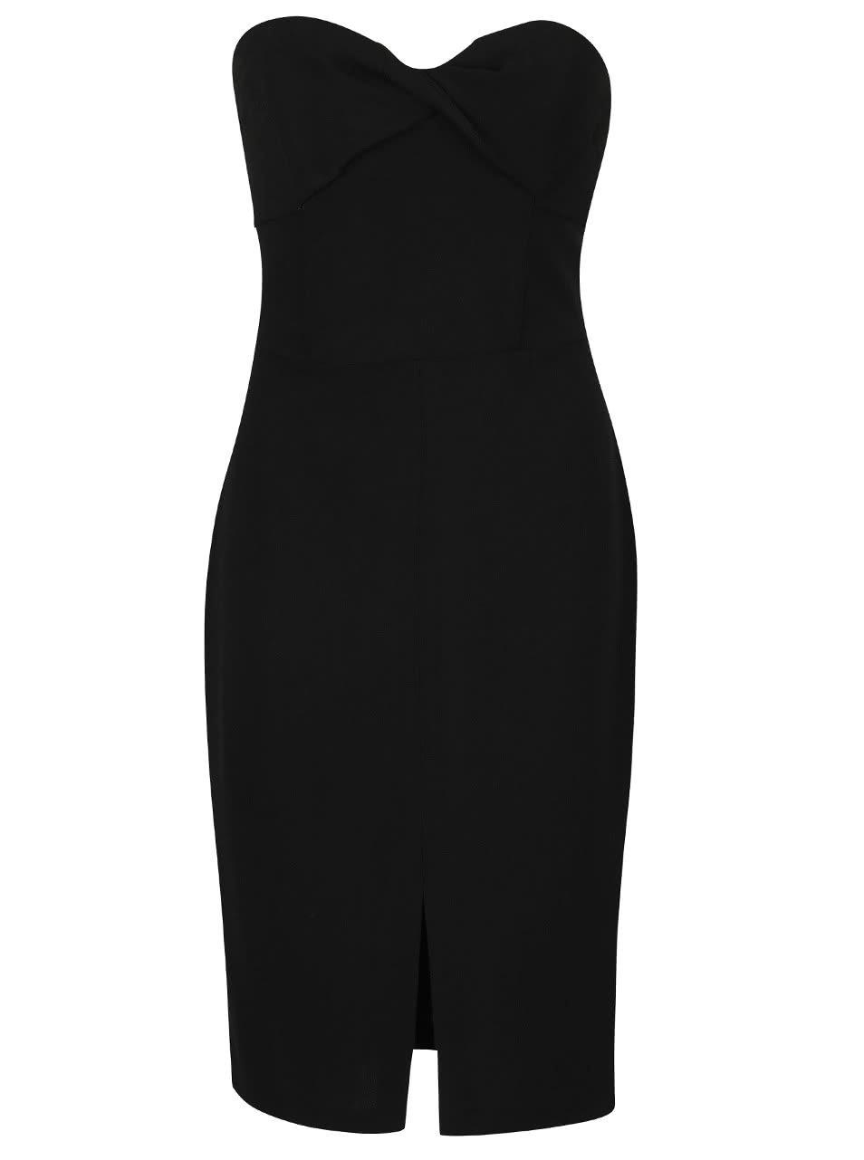 1f803f9de4a Černé pouzdrové šaty bez rukávů Miss Selfridge ...