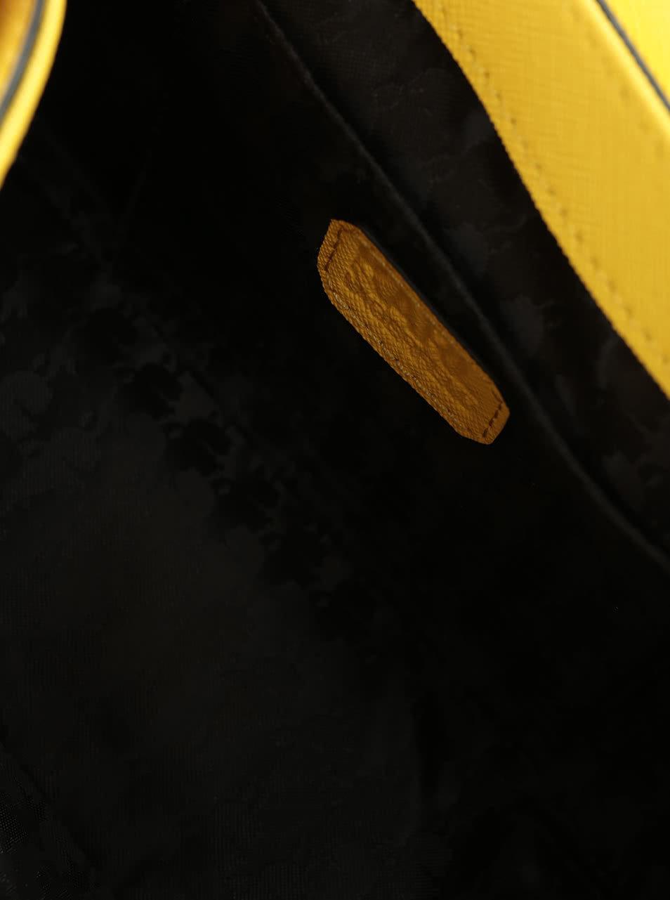 21f68419556 Žlutá kožená crossbody kabelka KARL LAGERFELD ...