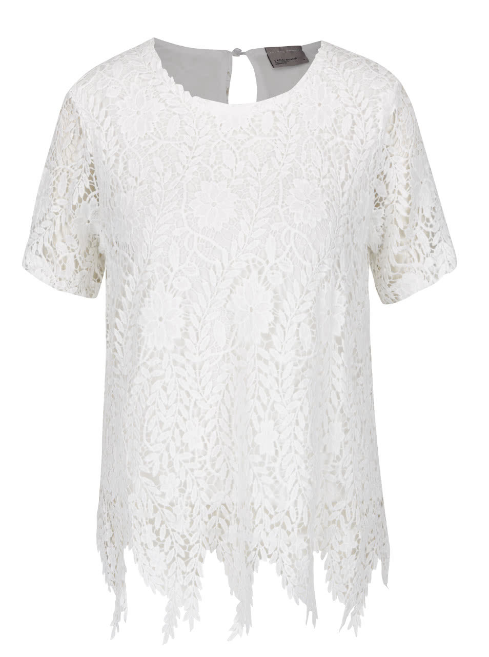 28945079f3 Bílé krajkové tričko VERO MODA Flora ...