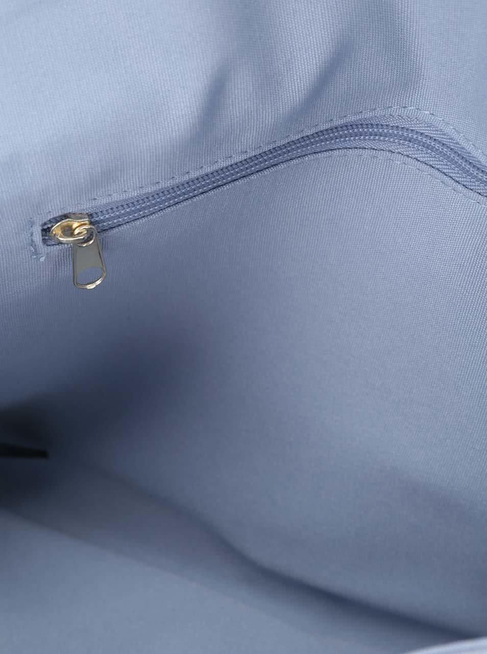Svetlomodrá listová kabelka v semišovej úprave Dorothy Perkins ... bb320f28bb7