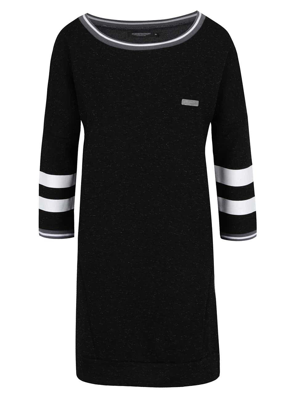Čierne mikinové šaty Horsefeathers Doris ... f330211f042