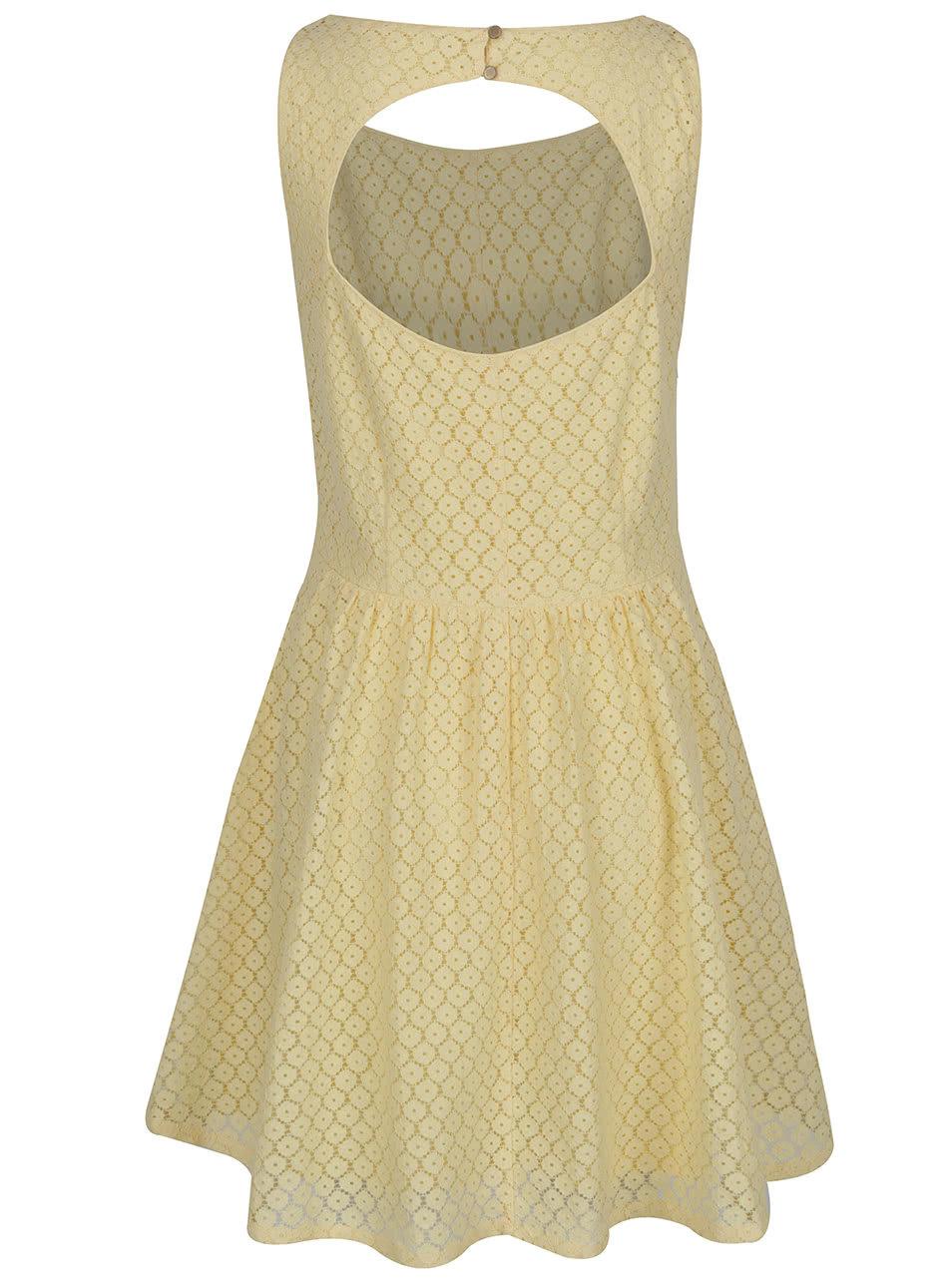 Žlté čipkované šaty ONLY Line Fairy ... 2ca8f6329f1