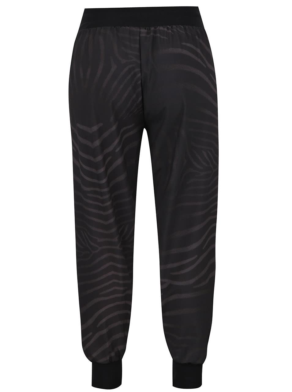 Čierne vzorované športové nohavice Desigual Sport ... d270b2bb1b8