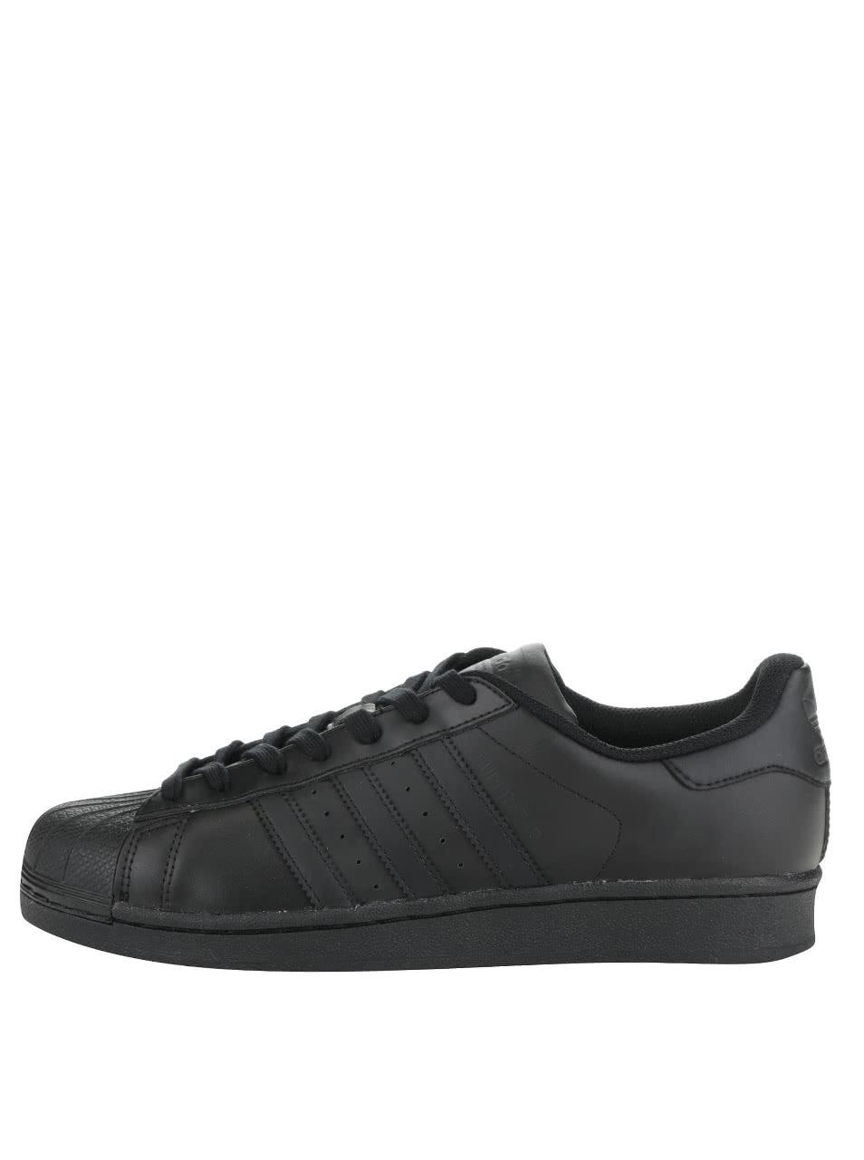 Čierne pánske kožené tenisky adidas Originals Superstar ... 92eebbb263b