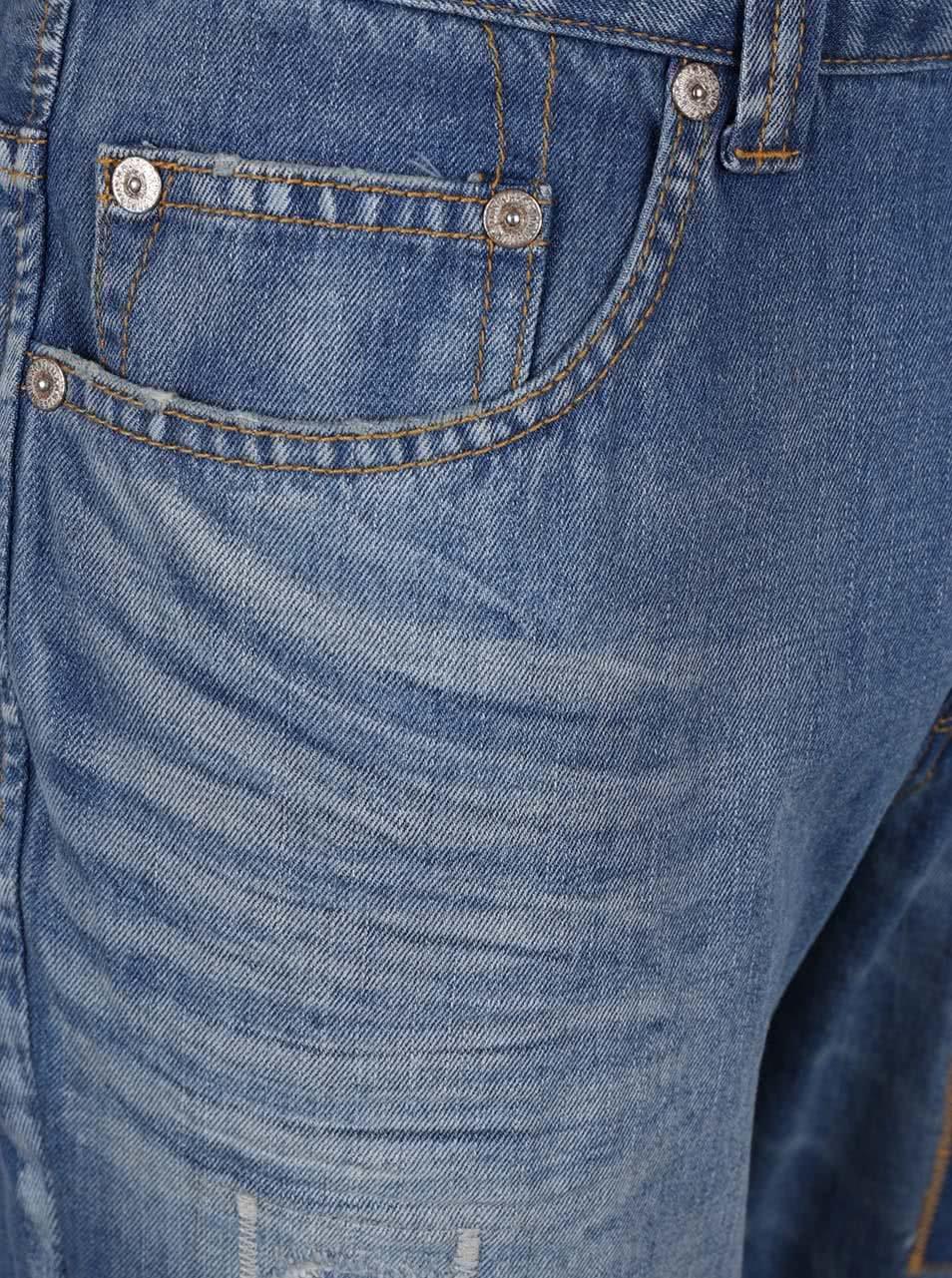 Modré zkrácené džíny se záplatami ONLY   SONS Beam ... dde6006dd3