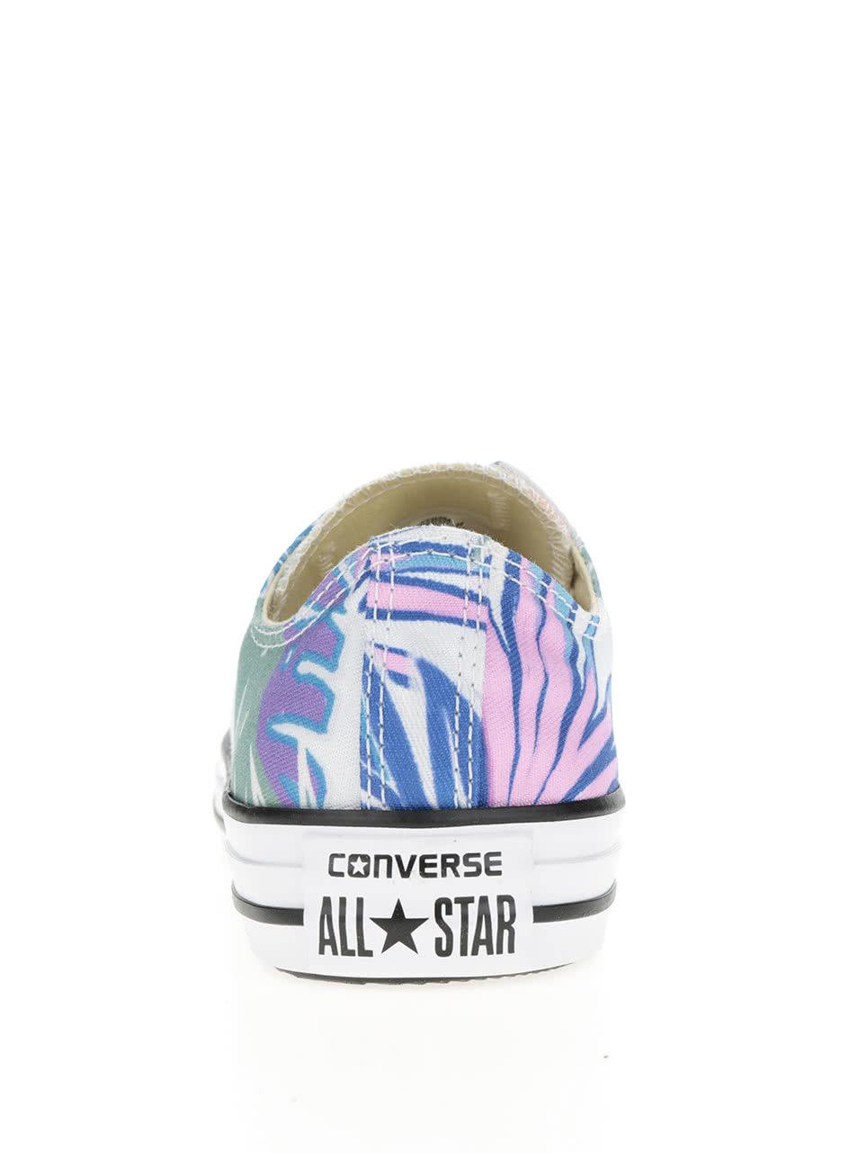 Bílé dámské nízké tenisky s tropickým potiskem Converse Chuck Taylor All  Star ... d100a99458