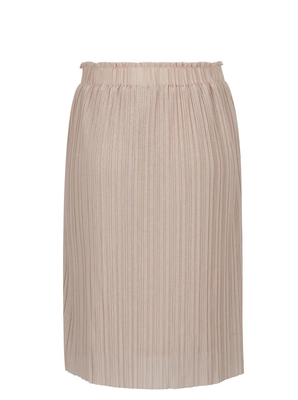 4476bea64023 Béžová plisovaná sukňa VERO MODA Mira ...