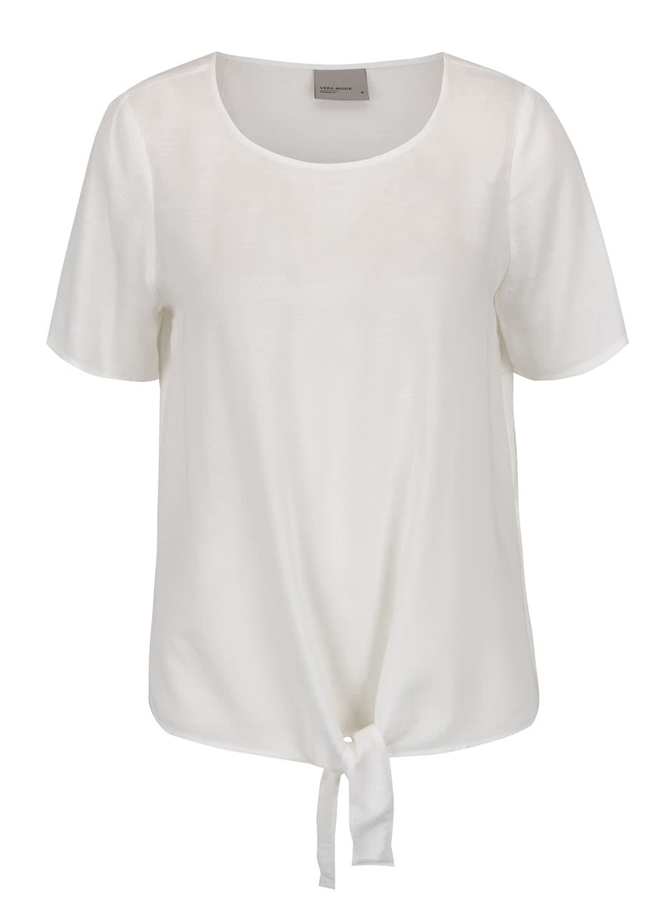 3dfa922e060 Bílé tričko s uzlem Vero Moda Fay ...