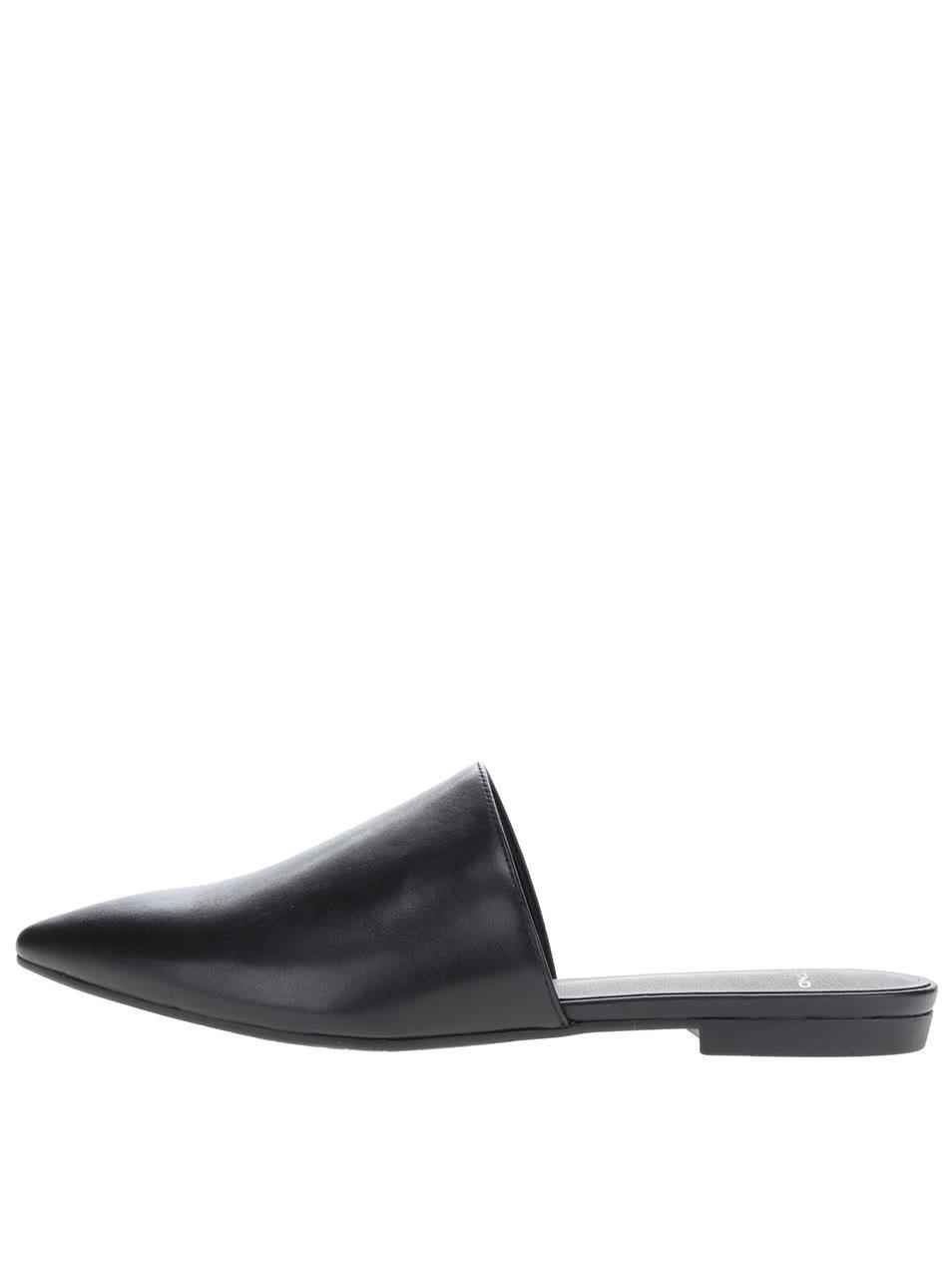 84869aff7b51 Čierne dámske kožené našuchovacie topánky Vagabond Katlin ...