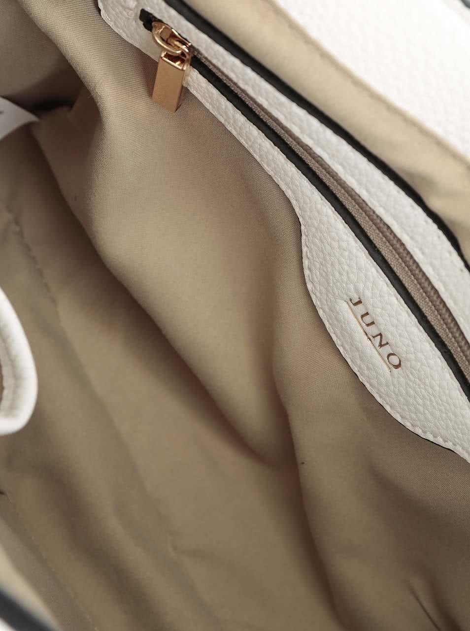 Béžovo-krémová kabelka s detailmi v zlatej farbe Juno ... 5f96f4aa53