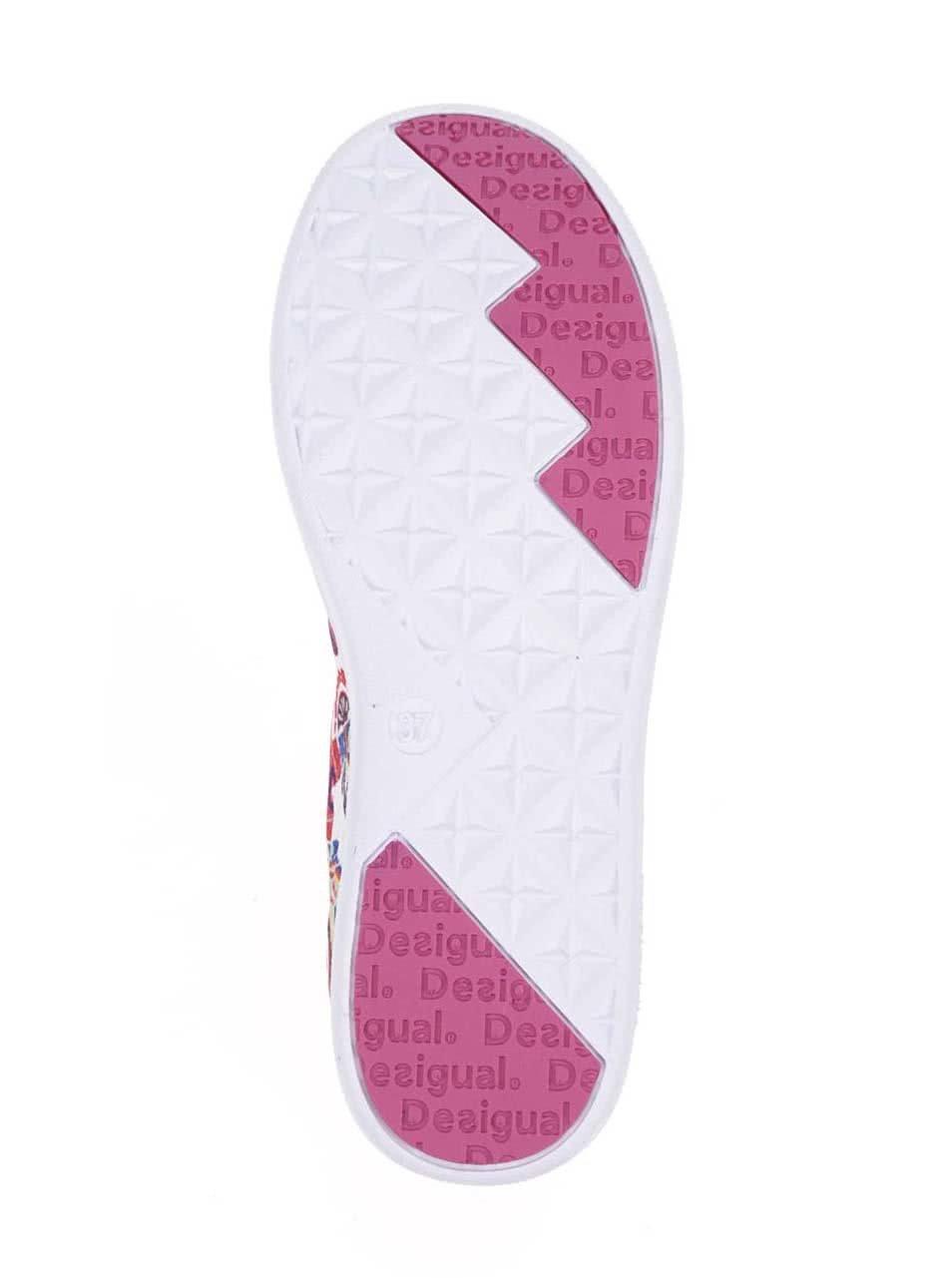d30ab7bd1ca Krémovo-růžové vzorované tenisky Desigual Camden ...