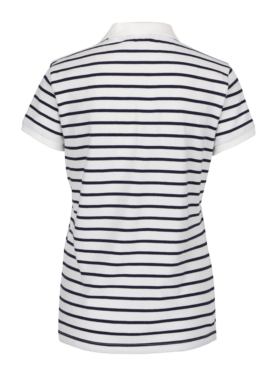 4405fff074dc Bílé dámské pruhované polo tričko GANT Pique ...