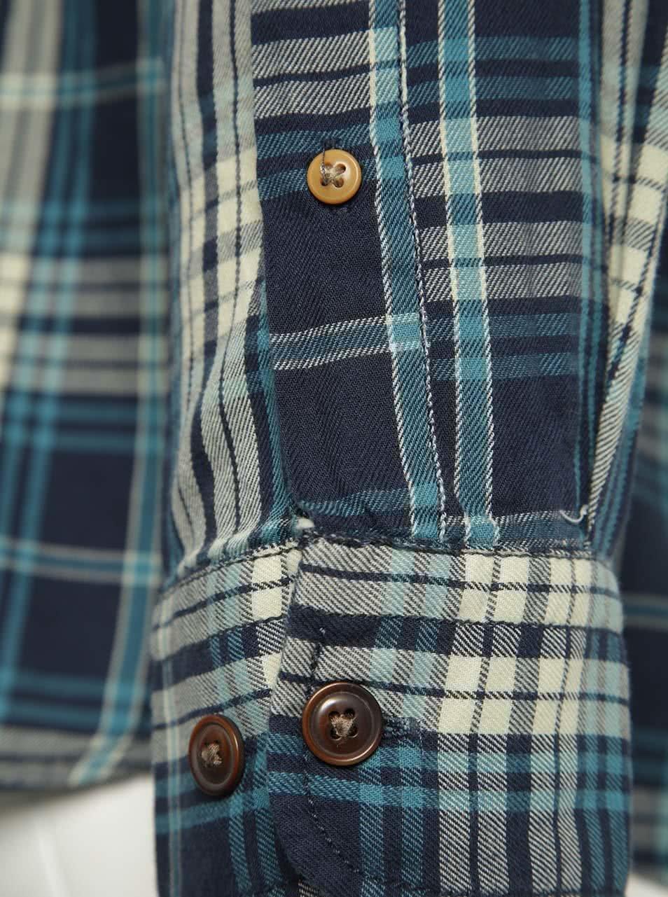 2b390a61f6fc Tmavomodrá károvaná košeľa Jack   Jones Campo ...