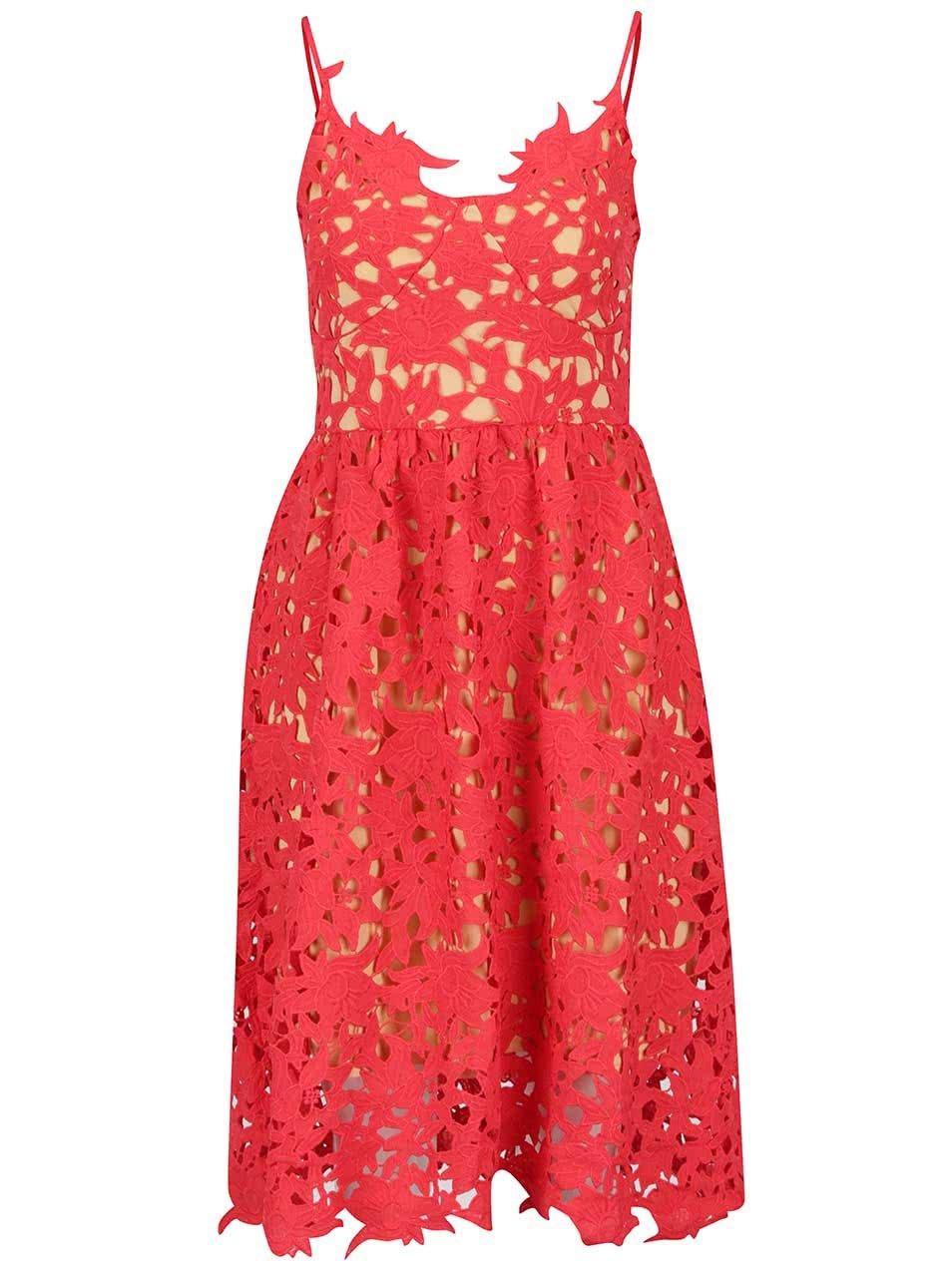 a010fed636cf Červené čipkované šaty VERO MODA Beauti ...