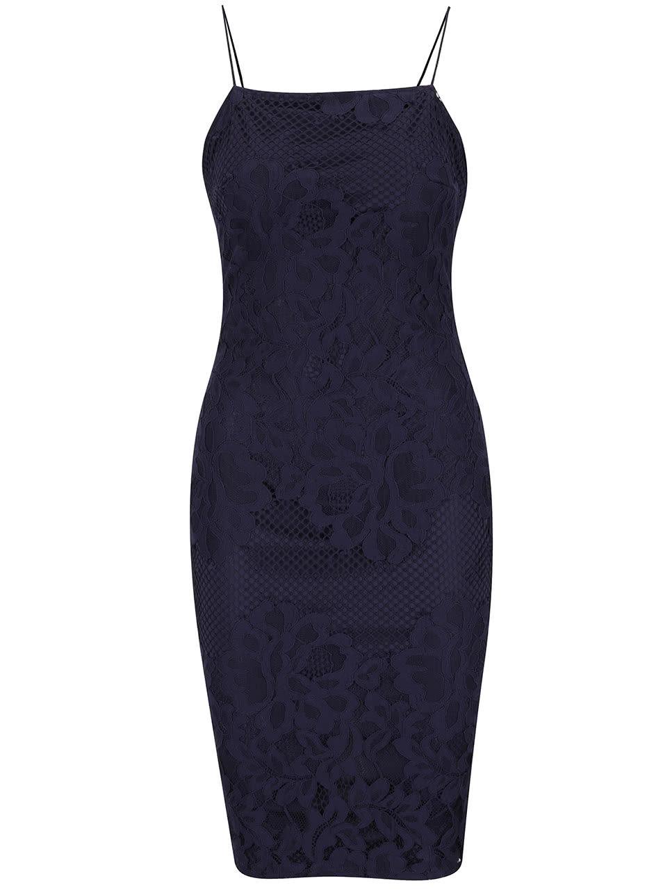 5f9b37dd67f6 Tmavomodré šaty s tenkými ramienkami AX Paris ...
