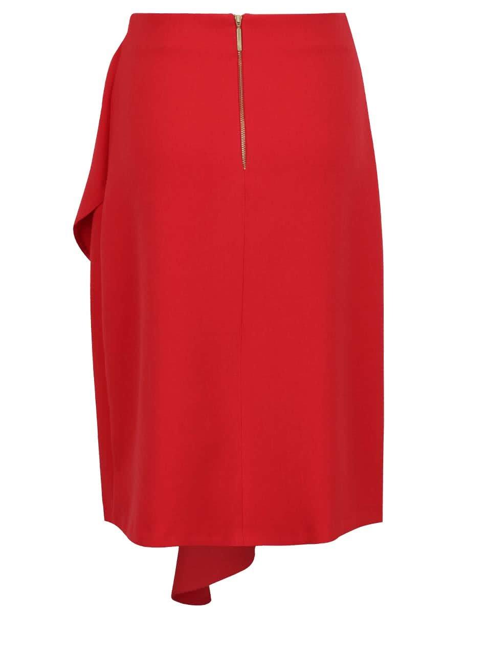 6b769b446844 Červená sukně s volánem Closet ...