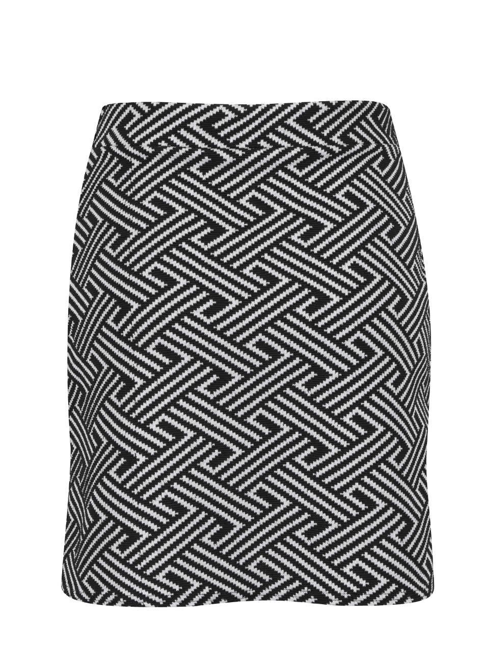 745d62bb1a29 Krémovo-čierna vzorovaná áčková sukňa Miss Selfridge ...