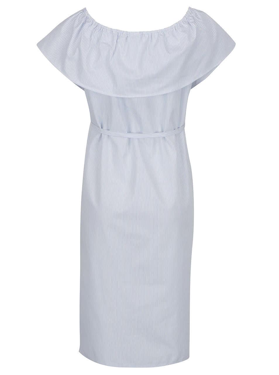 538598be45a3 Světle modré těhotenské šaty s volánem Mama.licious Vitoria ...