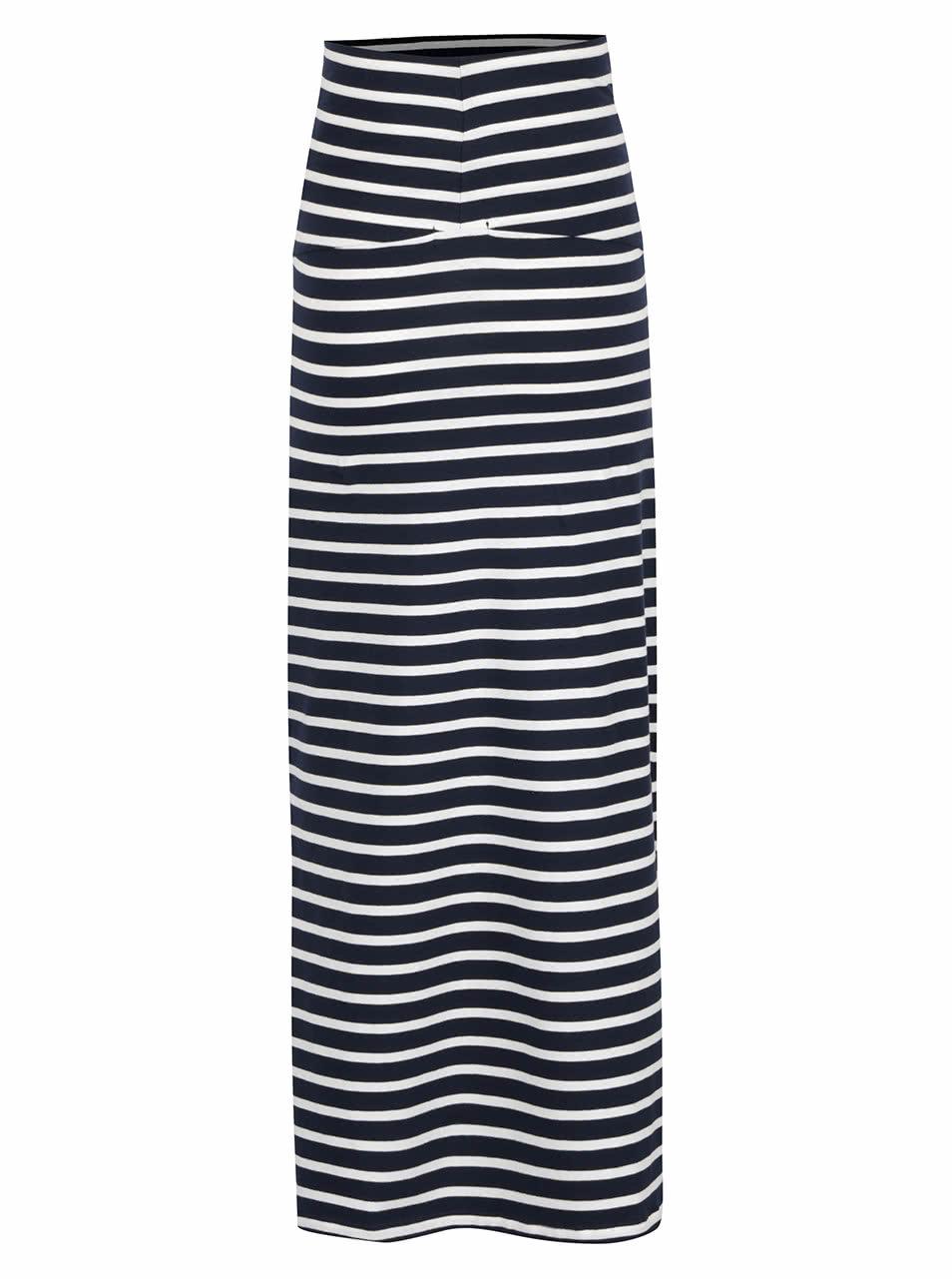 692a8c16173 Modro-bílá pruhovaná těhotenská sukně Mama.licious Lea ...
