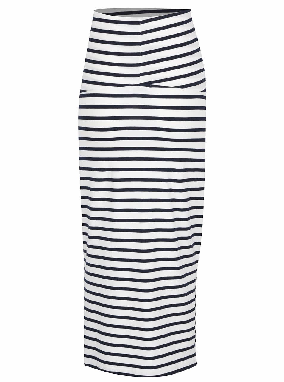 701efdc0868 Bílá pruhovaná těhotenská sukně Mama.licious Lea ...