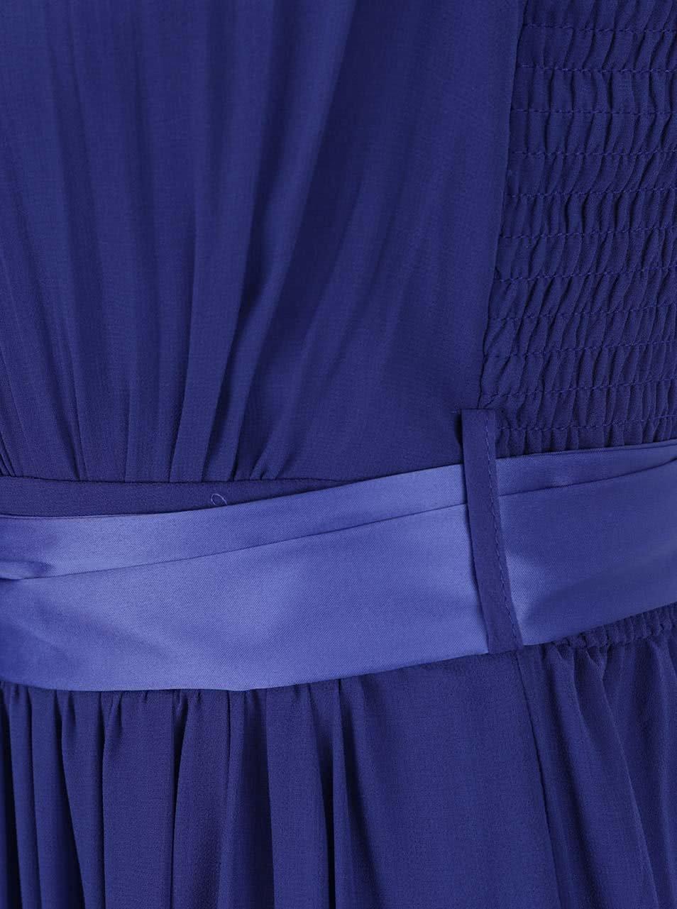 Modré dlouhé šaty Dorothy Perkins ... 22850455e0