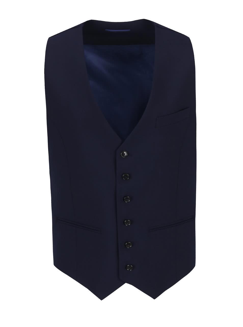 Tmavě modrá vesta Bertoni Vinter