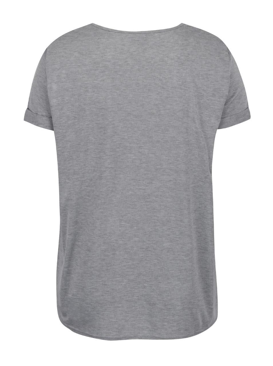 59341feaff39 Šedé tričko s potiskem Dorothy Perkins Curve ...
