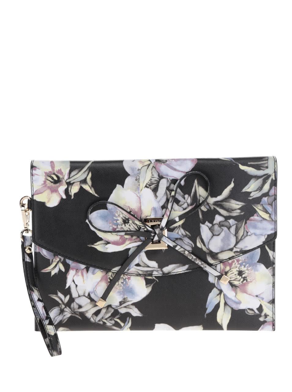 Krémovo-čierna kvetinová listová kabelka LYDC ... 461dc77d60e
