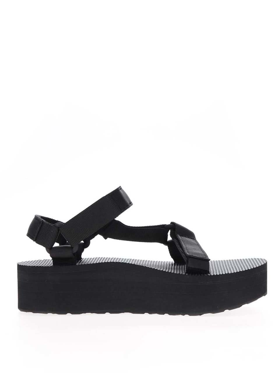 6720b972ee19 Čierne dámske sandále na platforme Teva ...