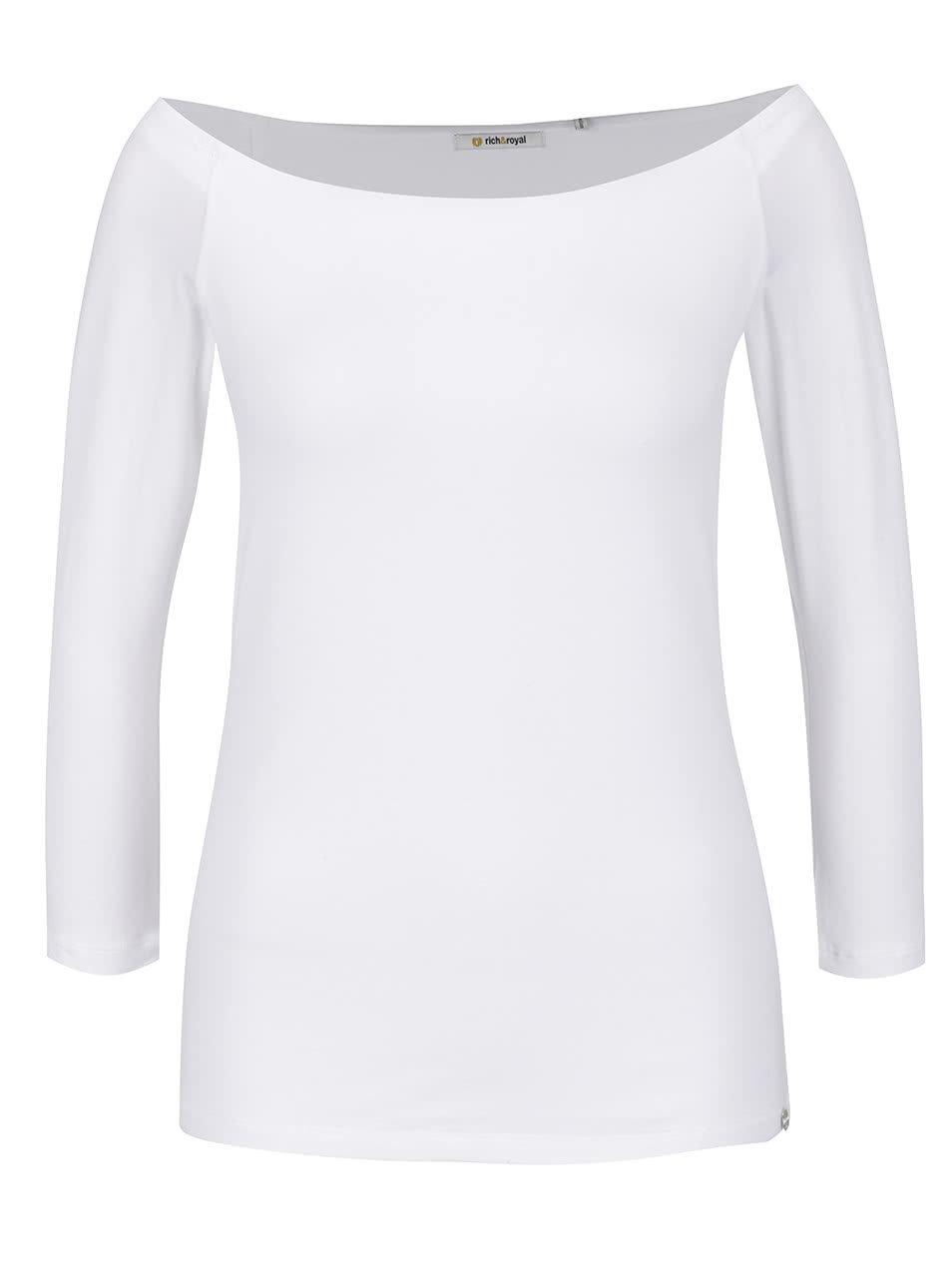 7a4d21de4a9e Biele tričko s lodičkovým výstrihom Rich   Royal ...