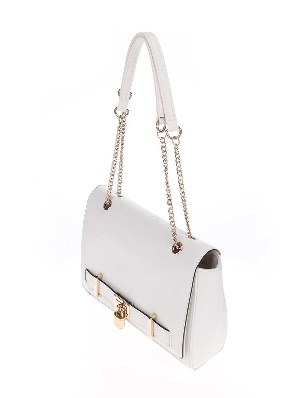 Krémová kabelka s detailmi v zlatej farbe Love Juno ... 72da568125
