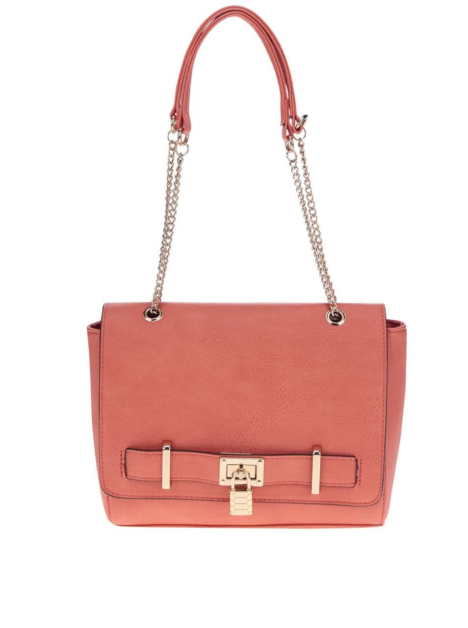 Červená kabelka s detailmi v zlatej farbe Love Juno ... cce2e914bb