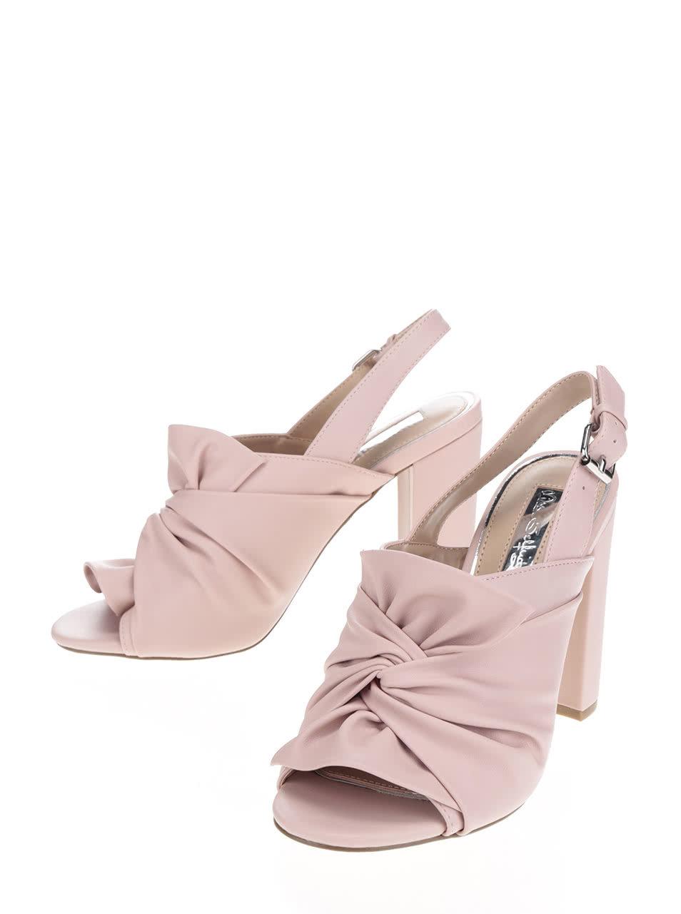 1d4aba37ba2c Ružové sandále na podpätku Miss Selfridge ...