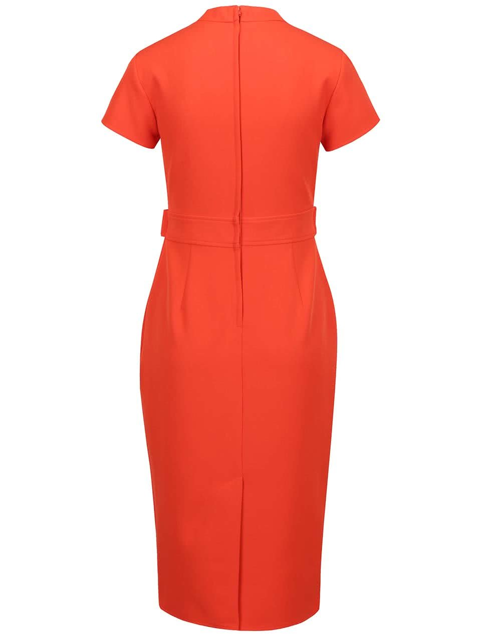 2890fc41ac64 Červené šaty s ozdobným zipsom Dorothy Perkins ...