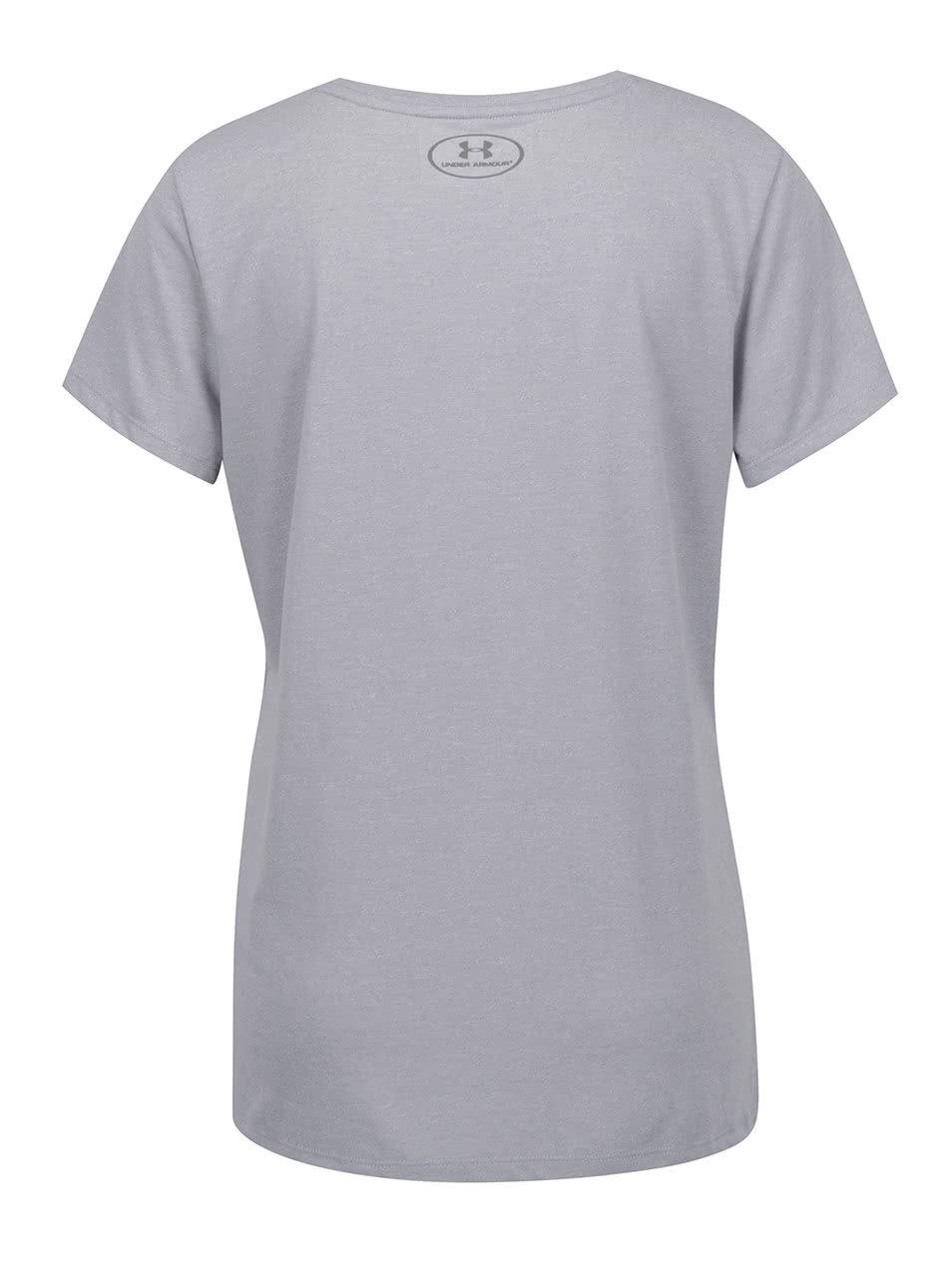 Sivé dámske športové tričko Under Armour Crew twist ... 7e6f62b9049
