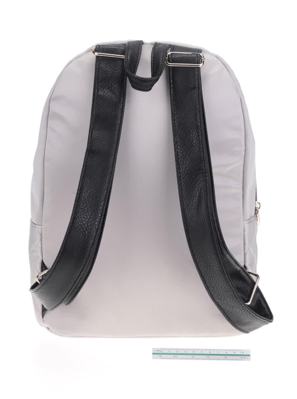 Svetlosivý prešívaný batoh TALLY WEiJL ... 4351fb48dde
