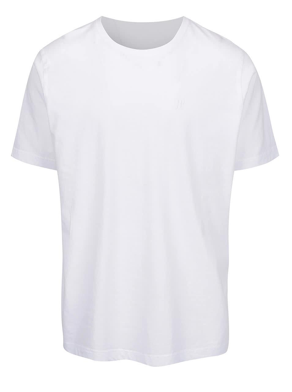 37875bab7aeb Biele tričko s logom JP 1880 ...