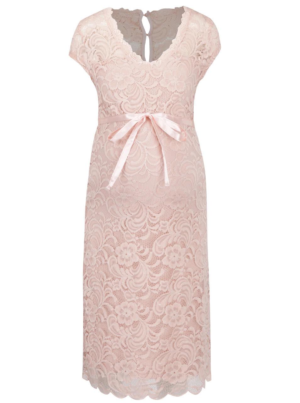 7a3d0aa75cae Ružové čipkované tehotenské šaty Mama.licious New Mivana ...