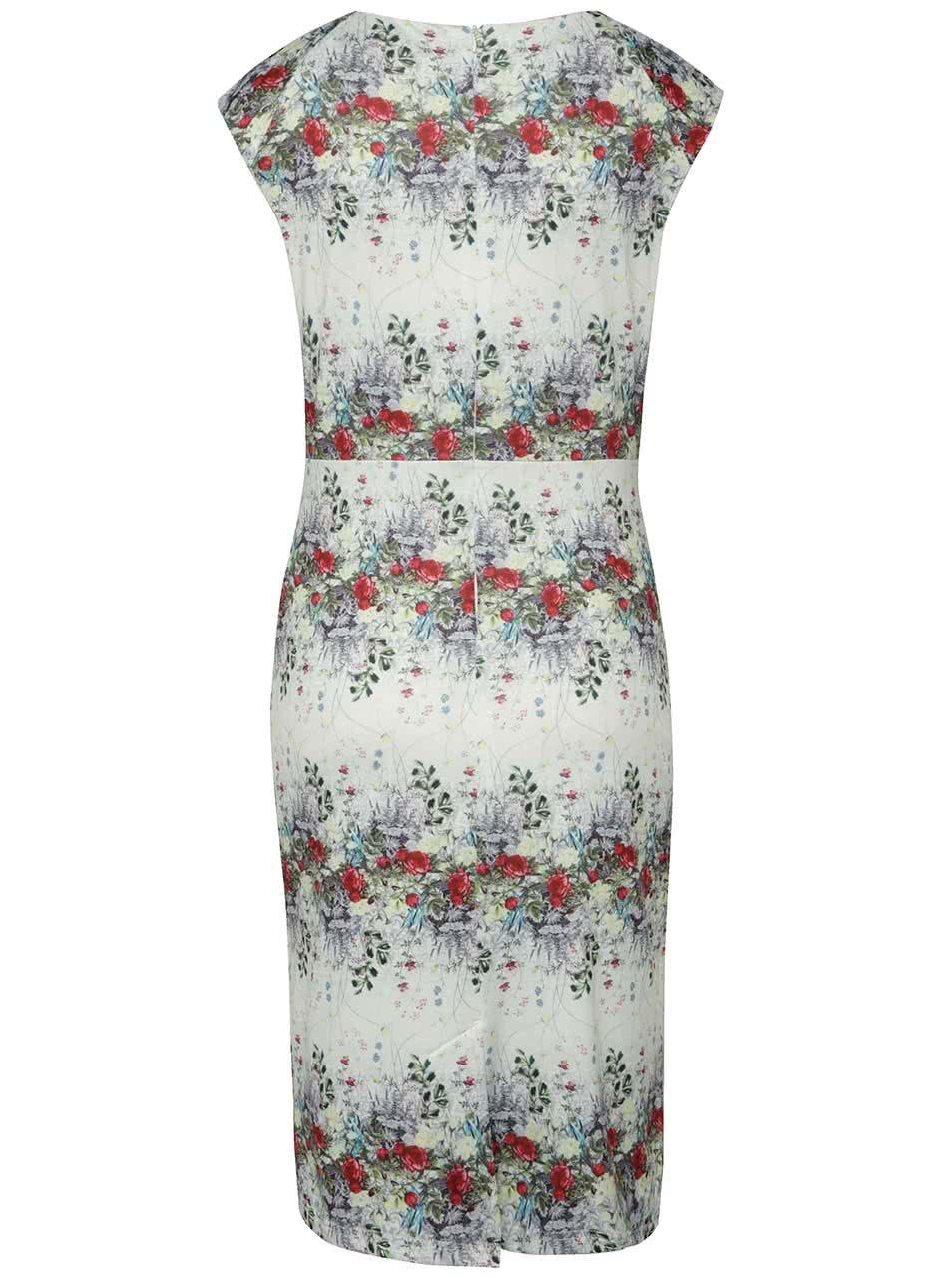 3dc1d5890e9a Krémové šaty s květovaným potiskem Smashed Lemon ...