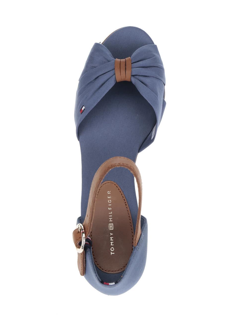 Světle modré dámské sandály na klínku Tommy Hilfiger ... 000e75aba8e