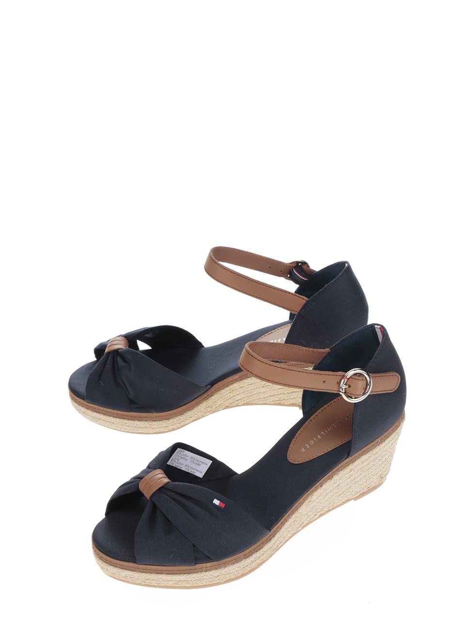4a419a4de619 Čierne dámske topánky na klinovom podpätku Tommy Hilfiger ...