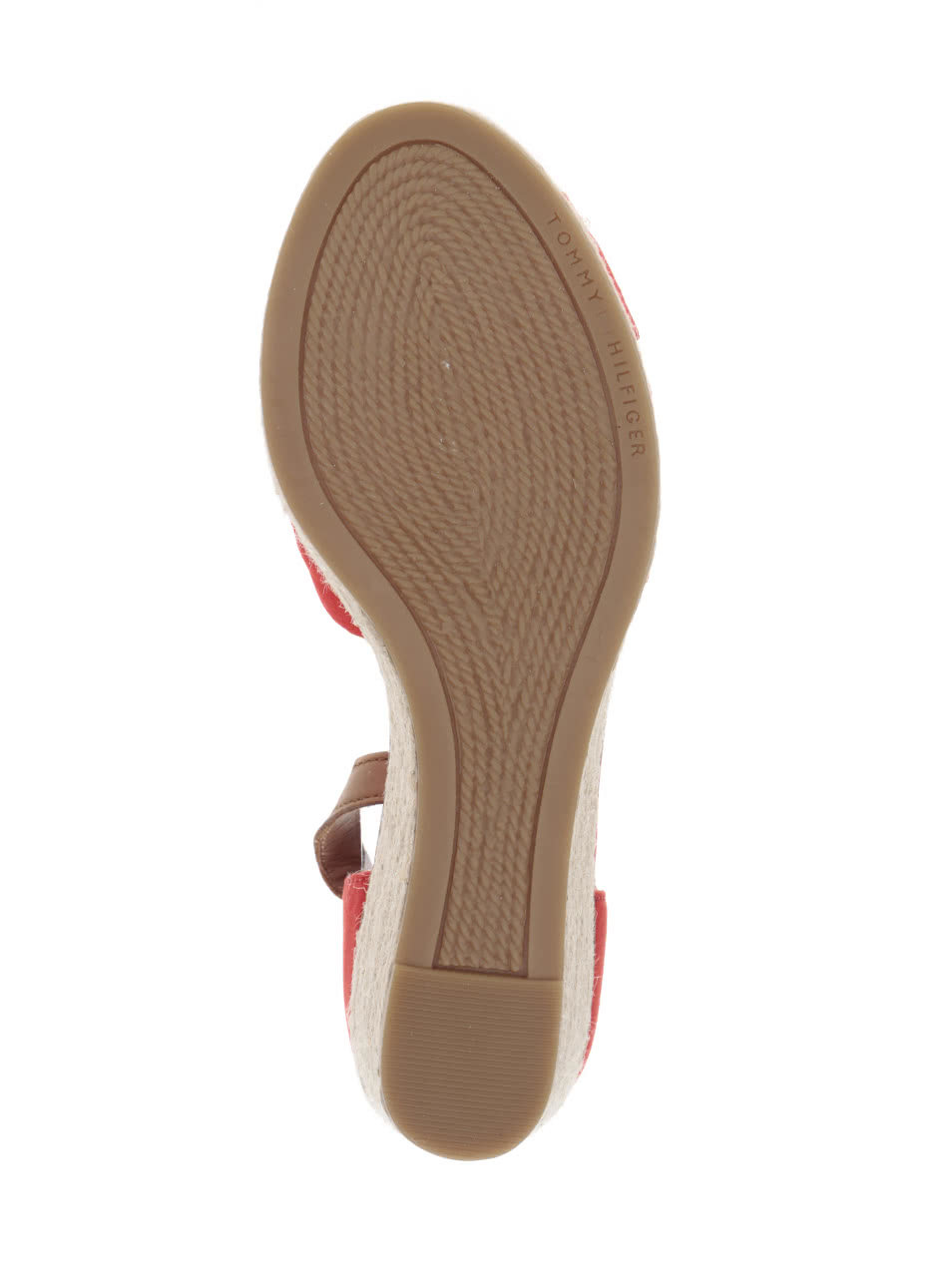 Červené dámské sandály na klínku Tommy Hilfiger ... e8887a68b7f