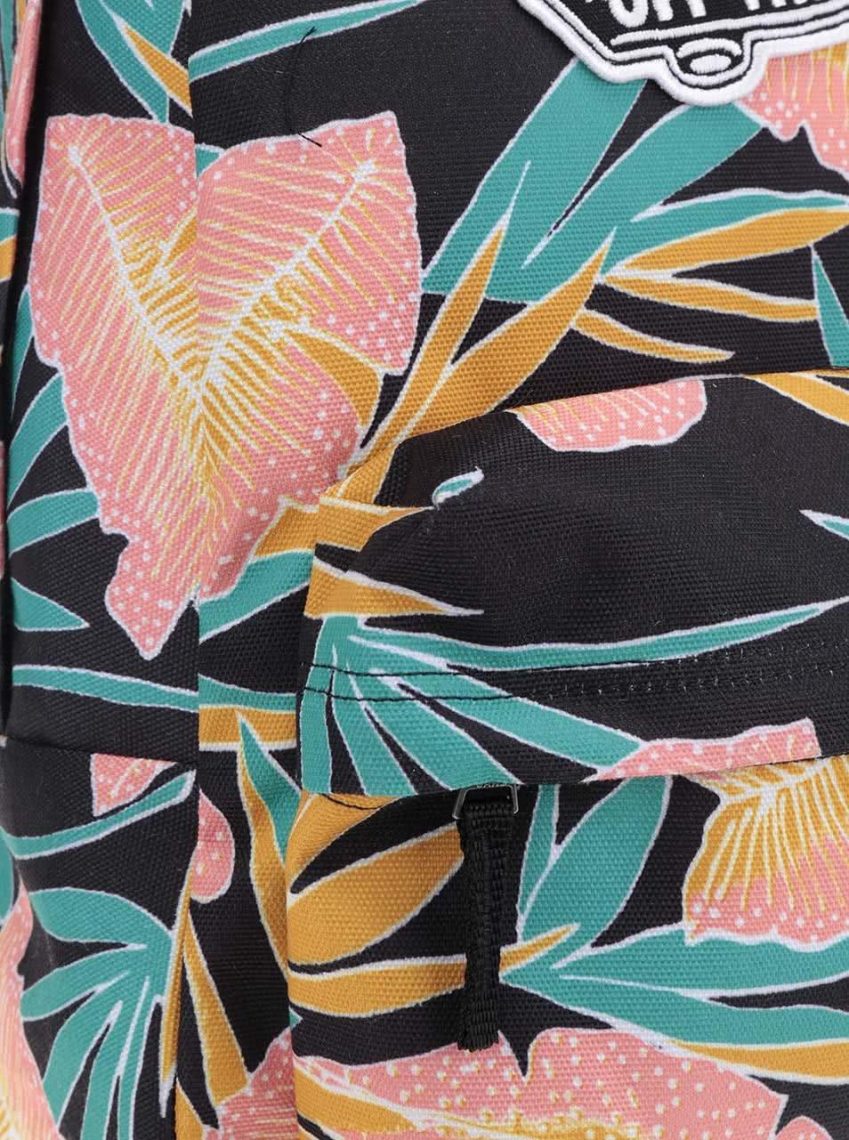 Černý květovaný dámský batoh VANS Realm 22 l ... f1317cbcee