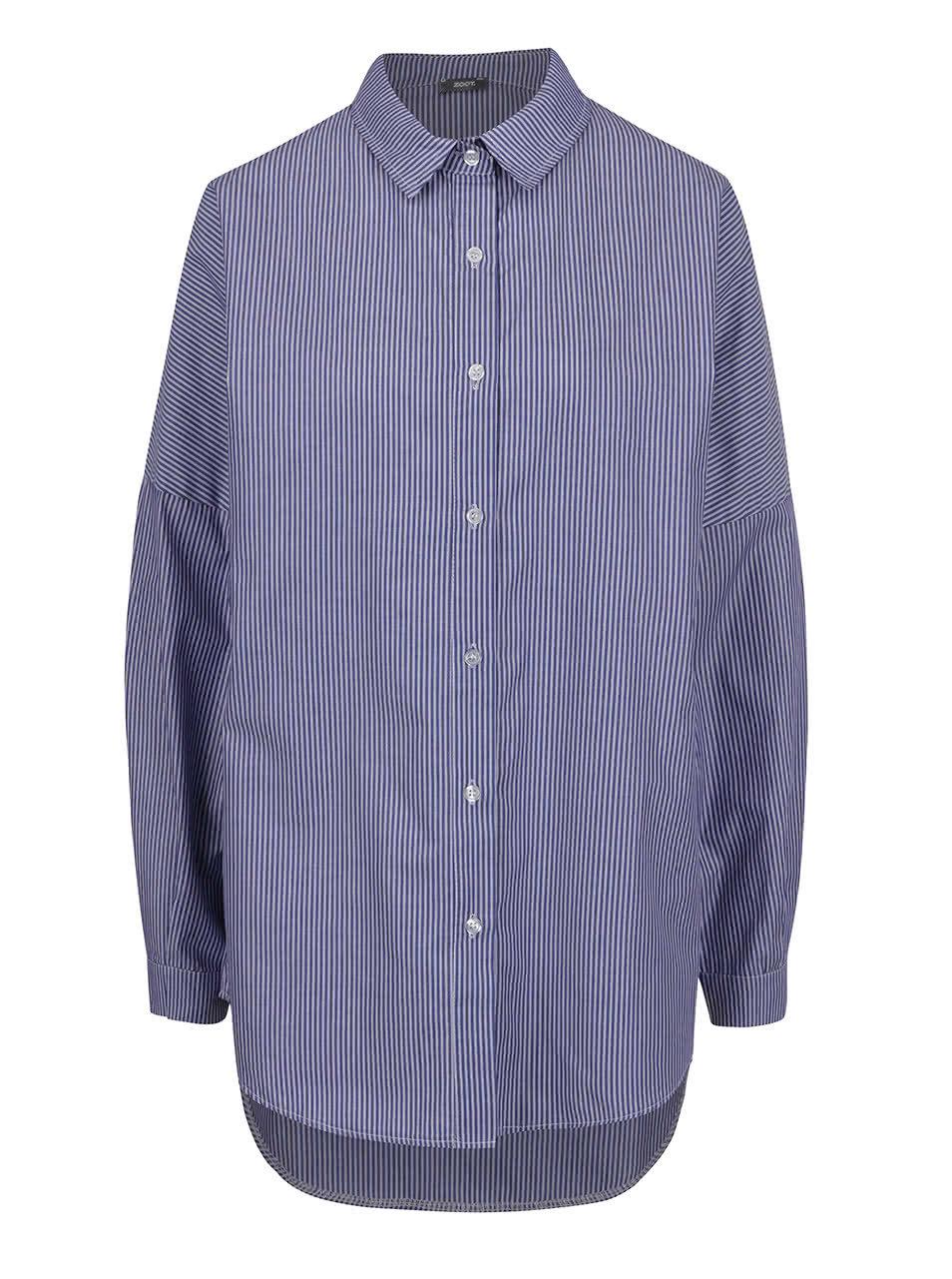 8524ef0f9e8 Tmavě modrá pruhovaná volná košile ZOOT ...