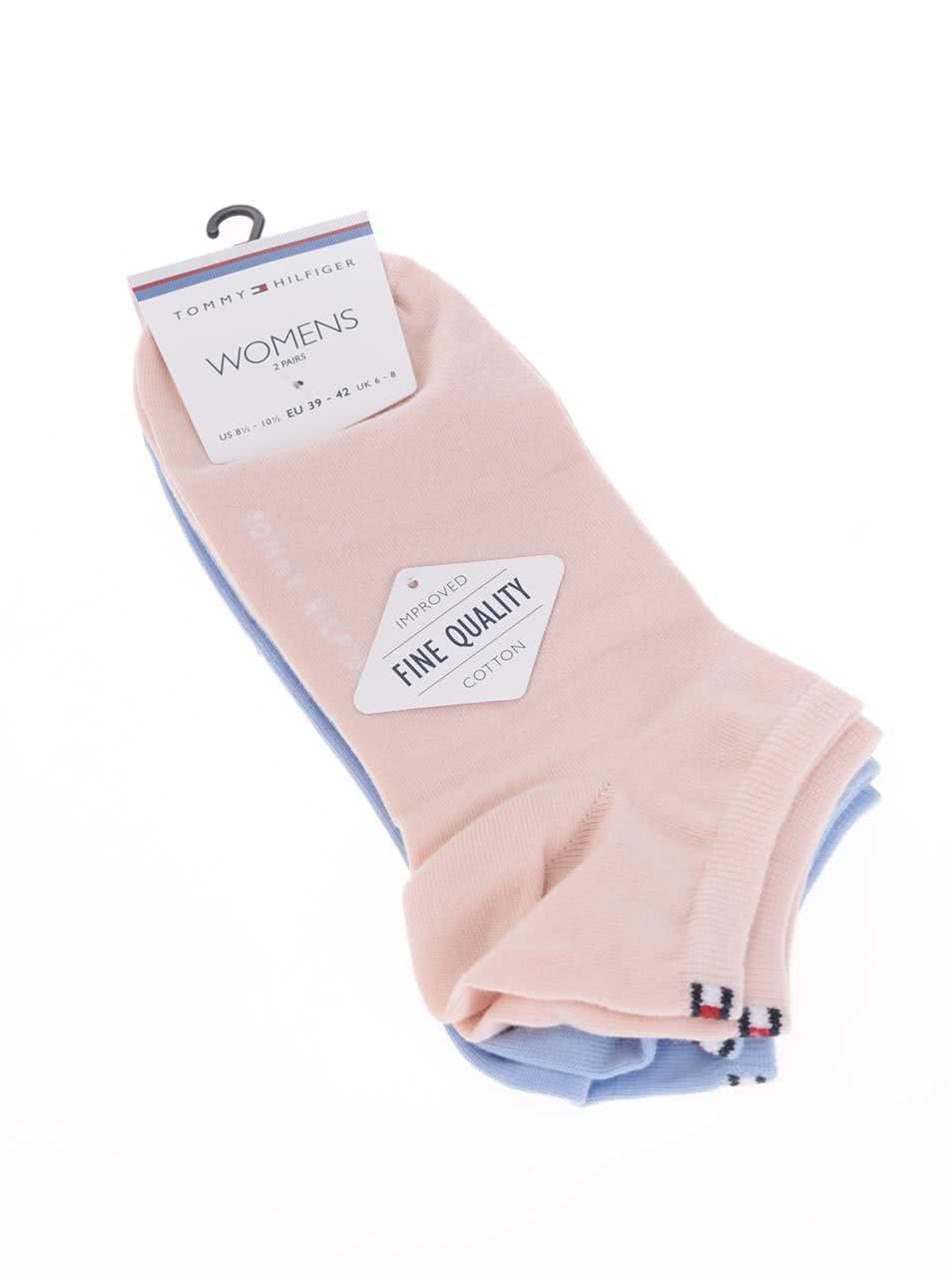 Súprava dvoch párov dámskych členkových ponožiek v ružovej a modrej farbe  Tommy Hilfiger Sneaker ... 7398bbc5a21