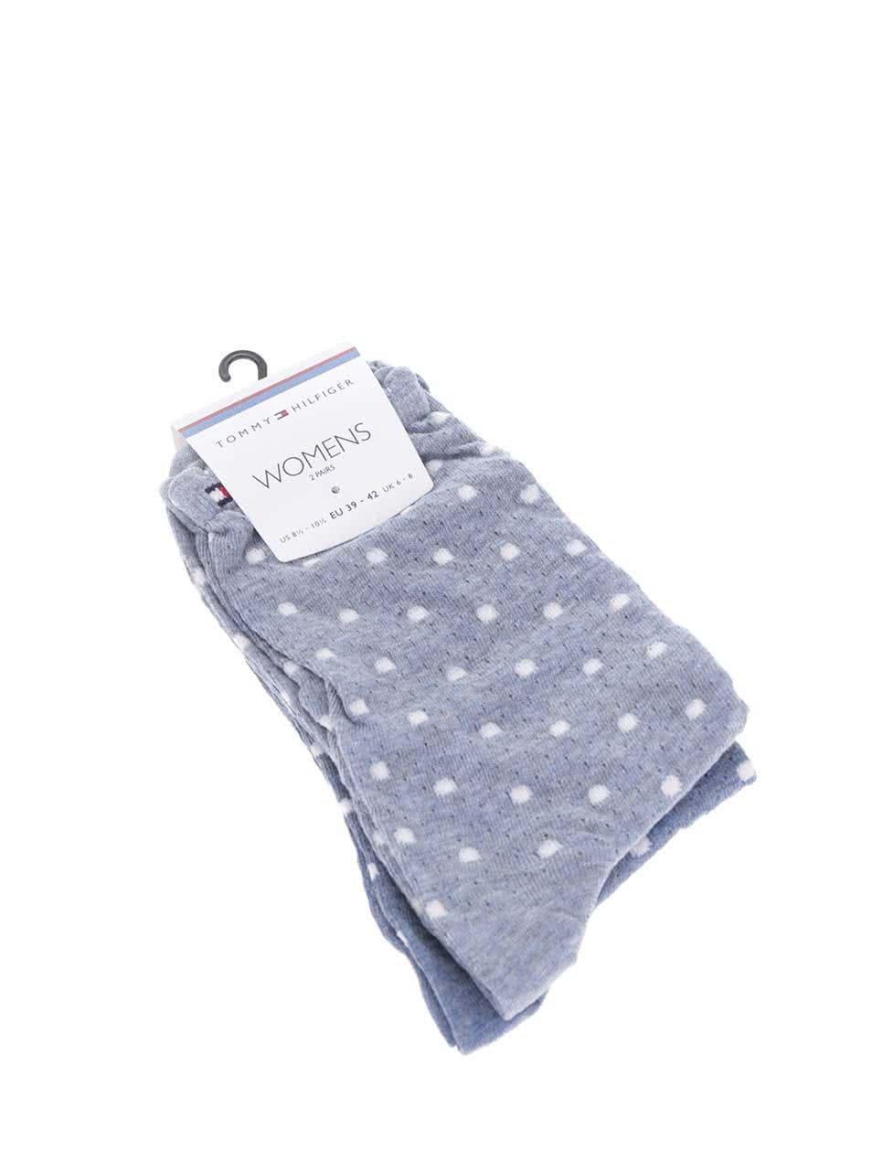 Súprava dvoch párov dámskych ponožiek v modrej farbe Tommy Hilfiger Classy  cocktail ... 8f08b3fef94
