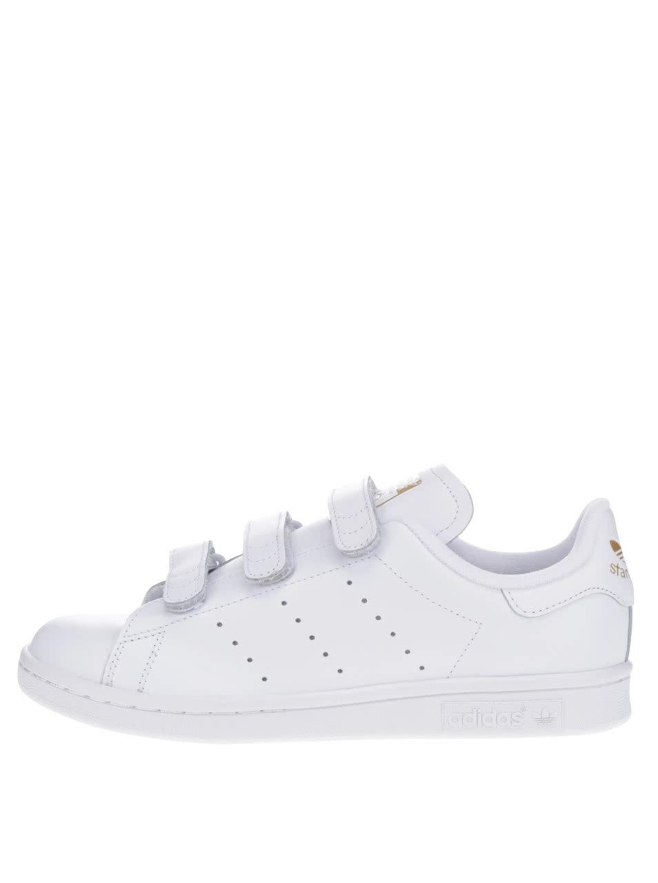 Bílé dámské kožené tenisky s detaily adidas Originals Stan Smith ... 507e2d822b