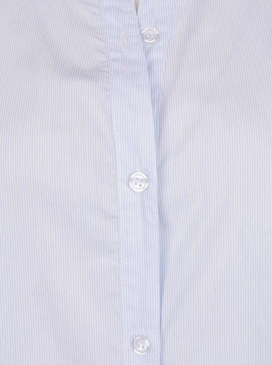 Světle modrá pruhovaná košile bez límečku ZOOT ... a08b7c4194